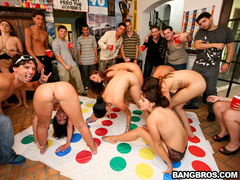 College dorm party with pornstars