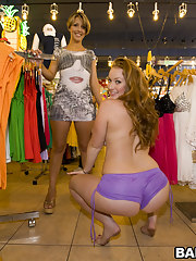 Kelsey Michaels and Alina Aldamen's Unpremeditated broad in the beam ass Shopper