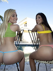 Gorgeous Big butts, Yoke down in the mouth big booty babes hard by the name of Amy together with Brittany Harper