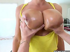 Lisa Ann -  She has some hulking knockers and a giant ass to weigh